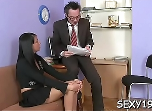 Piping hot teacher is pounding sweet lover..