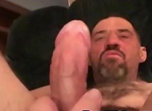 Hairy Worker Daddy strokes his meat- RoughHairy..