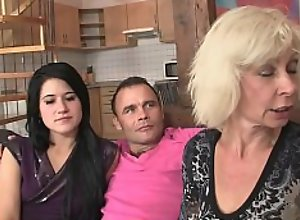 Meeting with his parents leads to family threesome