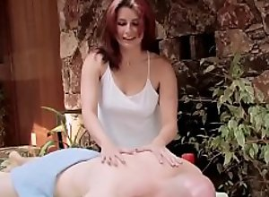 Redhead With Tramp Stamp Massages And Fucks Bald..