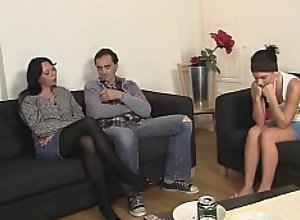 Old couple seduce her into family threesome