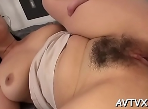 Stud is receving an amatory oral-sex from cute..