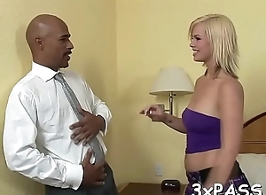 Gorgeous bitch is fucked in asshole after bulky splendid blow