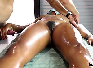 Sensual Massage Hairy Pussy Leads to Pulsating..