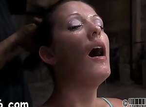 Leather babe gets her suffocating befog removed