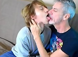 Gay 18-year-old Twink  and xxx  50yo Daddy..