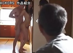 Japanese Gangbang  infront of husband (Full Free..