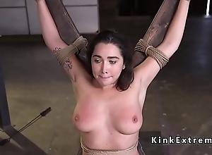 Natural flimsy pussy slave seem like fucked
