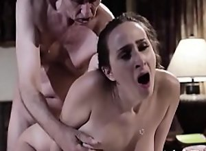 Giving Her Anal Virginity To Her Beloved Stepdad..