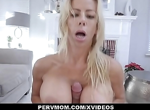 PervMom - Peaches Milf With Beefy Jugs Gets Rammed