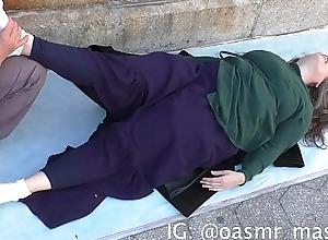 Big Boobs Massaged in Topple b reduce (Rubbing..