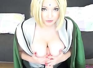 Tsunade Naruto cosplay porn