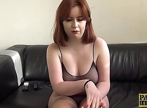 Redhead subslut rammed hard at the having a alliance of cum