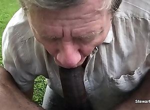 Big Black Blarney Pisses &amp_ Cums in my Face