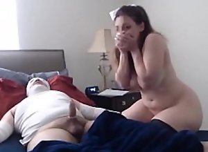 Milf Nursing Her Patient With Her Big Tits And..