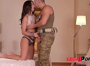 Military buddies Fuck  and xxx  DP a difficulty..