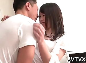 Loved feel one's way receives profound making out after wet blowjob