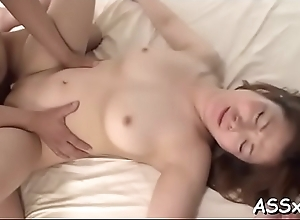Double penetration for cute asian by means of..