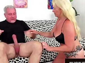 Golden Slut - Blonde Mature Beauties Blowjob..