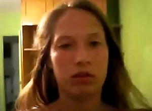 Dutch teen romantic maltreat on cam on touching lucky alms-man