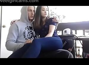 Cute Asian Camgirl Here American boyfriend on cam