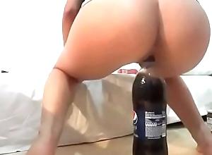 Masturbada con botella