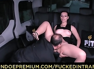 FUCKED IN TRAFFIC - Superb babe slammed nearly..