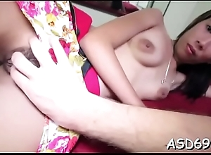 Voluptuous asian sexual intercourse doll boasts of her schlong riding skills