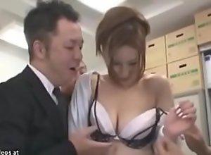 Japanese sexy secretary gangbanged in office