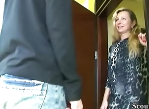 German MILF Seduce 18yr venerable Son from neighbor with reference to Fuck