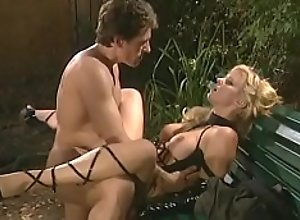 Sexy blonde in leather loves to suck dick..