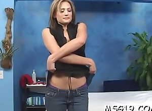 Seductive massage babe enjoys unfathomable penetration gets heavy o