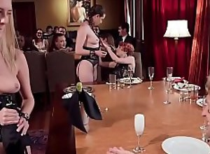 Submissive sluts are fucked in party