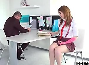 Lovable schoolgirl gets tempted and plowed by..