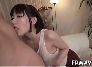 Lucky gleam receives orgasmic blow job job from..