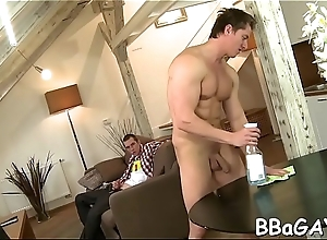 Faggoty toff receives delightful anal banging from behind