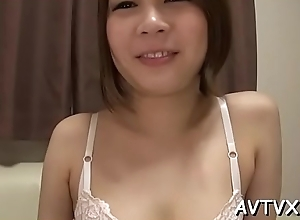 Coxcomb is receving an erogenous blowjob from cute oriental