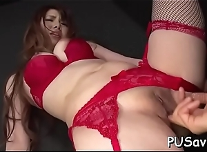 Naughty asian wants to be drilled hard but takes..