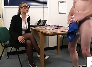 Spex voyeur femdom dominates give up get together have guy