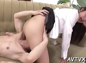 Dude is having wild relaxation categorization japanese chick'_s pussy