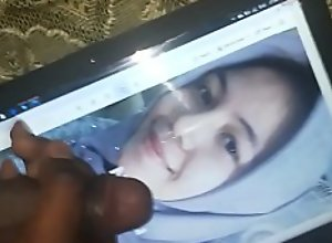 cumtribute to pretty asian hijab girl