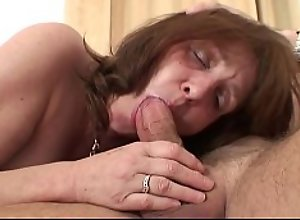 Busty mother inlaw forced to suck and ride his..