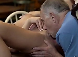 DADDY4K. Unexpected old and young sex action..