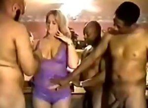 Sandra milf with big tits fuked by three bbc