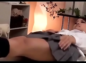 Cute Japanese Doll Gets a Massage