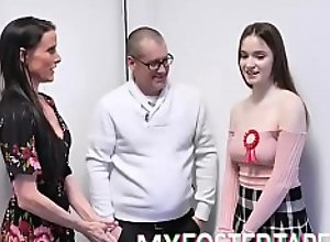 Foster Daughter Uses Body To Settle Debts - Hazel Moore - FULL SCENE on  fuck xxx MyFosterTapes porn video