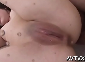 Hot japanese slut widens their way bushy twat be useful to deserted pleasuring