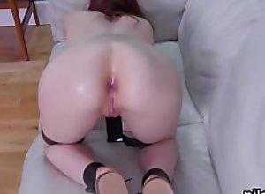 Kinky cutie is taken in anal asylum for..