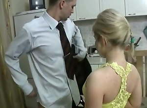 Petite pretty Russian fucking and sucking in the..