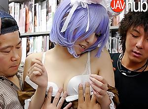 JAVHUB Sexy model Miku Oguri gangbanged in a..
